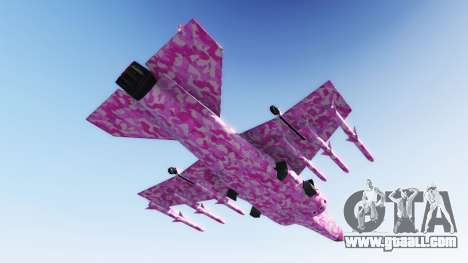 GTA 5 Hydra pink urban camouflage second screenshot