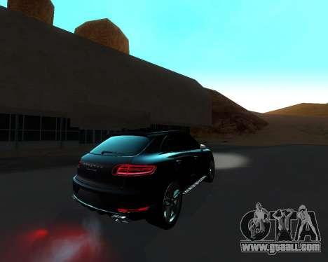 Porsche Macan Turbo for GTA San Andreas inner view