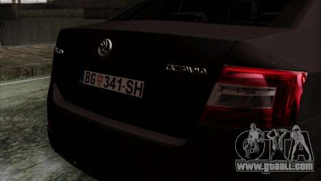 Skoda Octavia Police for GTA San Andreas back view