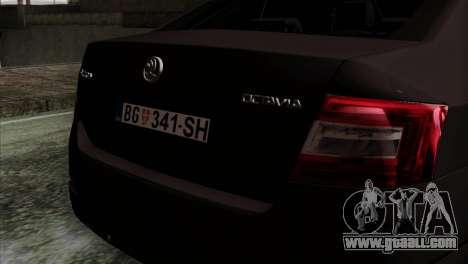 Skoda Octavia Police for GTA San Andreas back view