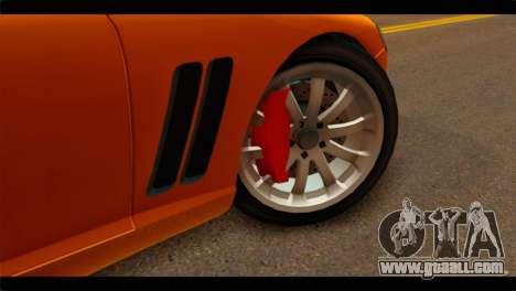 GTA 5 Dewbauchee Super GT for GTA San Andreas back left view
