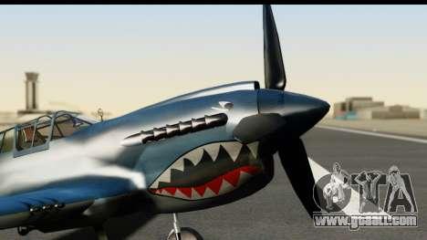 P-40E Kittyhawk US Navy for GTA San Andreas right view