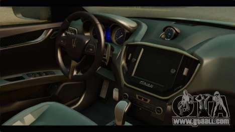 Maserati Ghibli S 2014 v1.0 SA Plate for GTA San Andreas back left view