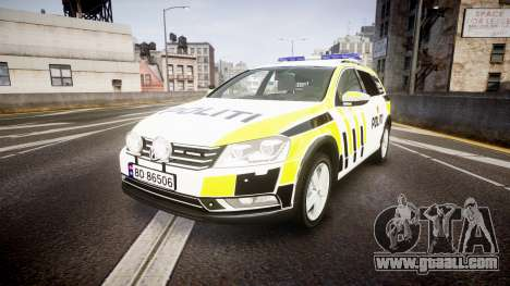 Volkswagen Passat B7 Police 2015 [ELS] marked for GTA 4