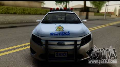Ford Fusion 2011 Sri Lanka Police for GTA San Andreas back left view