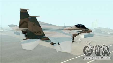 McDonnell Douglas F-15D Philippine Air Force for GTA San Andreas left view