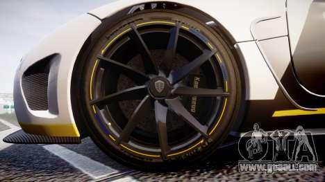 Koenigsegg Agera 2013 Police [EPM] v1.1 Low Qual for GTA 4 back view