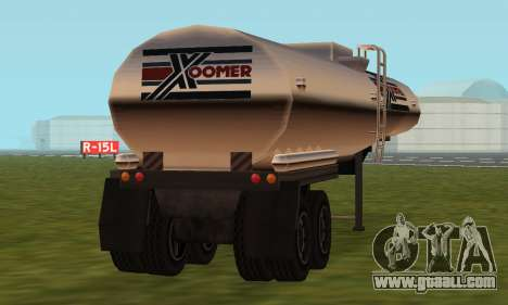 PS2 Petrol Trailer for GTA San Andreas back view