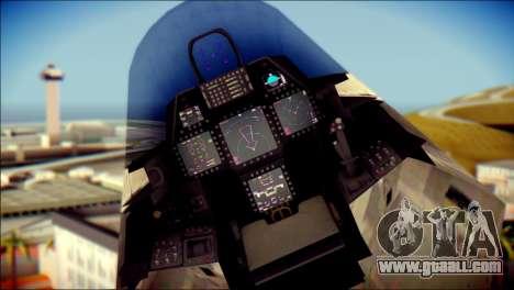 F-22 Raptor Digital Camo for GTA San Andreas right view