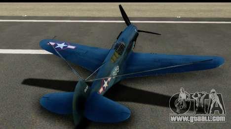P-40E Kittyhawk US Navy for GTA San Andreas inner view