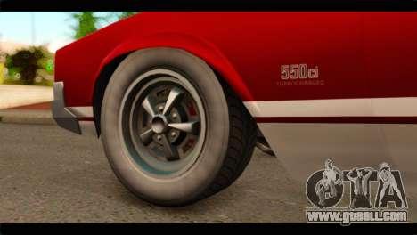 GTA 5 Declasse Sabre GT Turbo for GTA San Andreas back left view