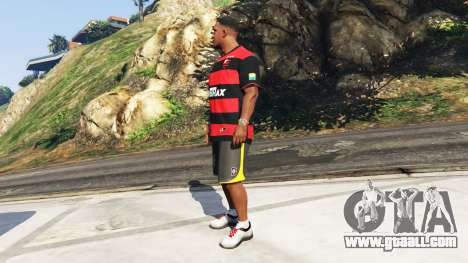GTA 5 Flamengo T-Shirt - Camisa do Flamengo de 2000-01 second screenshot