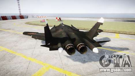Su-47 Berkut for GTA 4 back left view