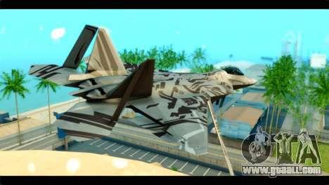 F-22 Raptor Starscream for GTA San Andreas left view