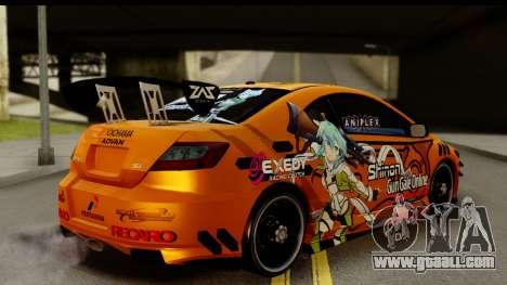 Honda Civic SI Juiced Tuned Shinon Itasha for GTA San Andreas left view