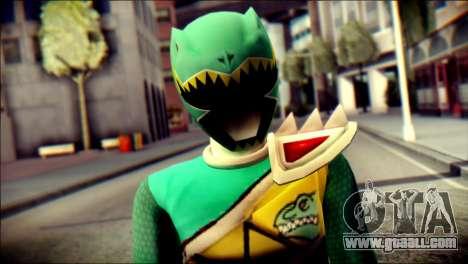 Power Rangers Kyoryu Green Skin for GTA San Andreas third screenshot
