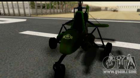 Gyrocopter for GTA San Andreas right view
