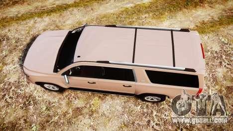 Chevrolet Suburban LTZ 2015 for GTA 4 right view