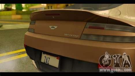 Aston Martin V12 Vantage for GTA San Andreas right view