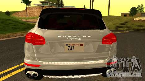 Porsche Cayenne S 2015 for GTA San Andreas side view