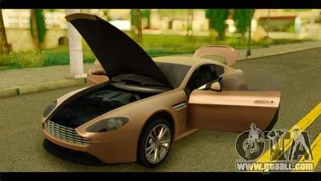 Aston Martin V12 Vantage for GTA San Andreas back view