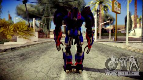 Optimus Prime Skin from Transformers for GTA San Andreas second screenshot