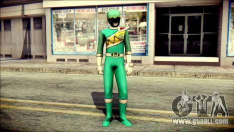 Power Rangers Kyoryu Green Skin for GTA San Andreas
