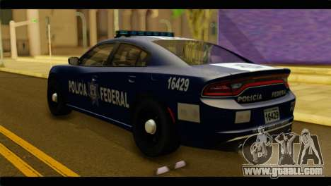 Dodge Charger 2015 Mexican Police for GTA San Andreas left view