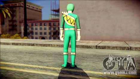 Power Rangers Kyoryu Green Skin for GTA San Andreas second screenshot