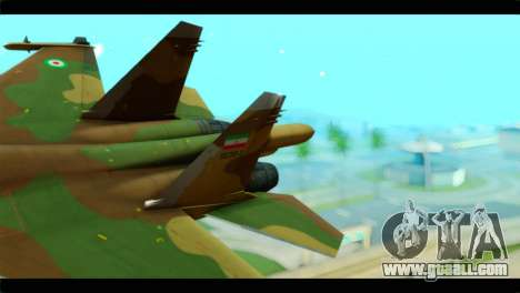 Sukhoi SU-34 IRIAF for GTA San Andreas back left view