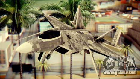 F-22 Raptor Digital Camo for GTA San Andreas back view