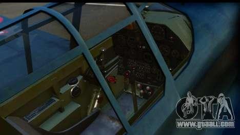 P-40E Kittyhawk US Navy for GTA San Andreas back left view