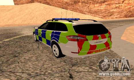Ford Mondeo Kent Police for GTA San Andreas left view