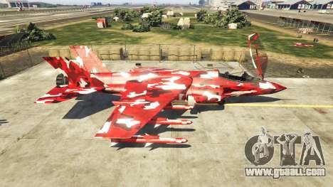 GTA 5 Hydra red camouflage second screenshot
