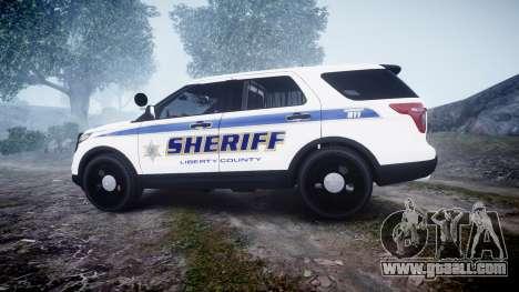 Ford Explorer Police Interceptor [ELS] slicktop for GTA 4 left view