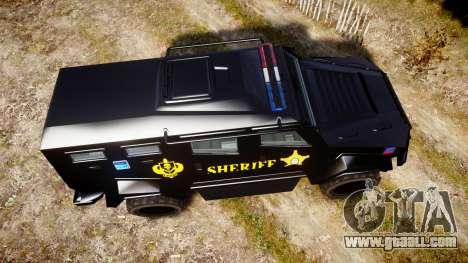 GTA V HVY Insurgent Pick-Up SWAT [ELS] for GTA 4 right view
