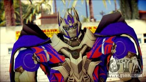 Optimus Prime Skin from Transformers for GTA San Andreas third screenshot