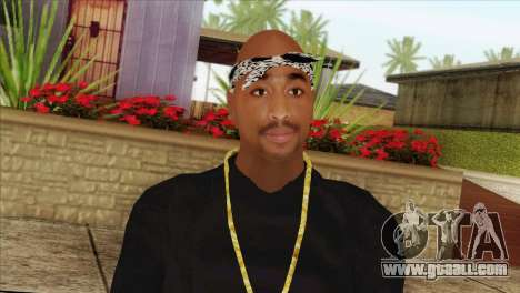 Tupac Shakur Skin v2 for GTA San Andreas third screenshot