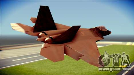 F-22 Raptor G1 Starscream for GTA San Andreas left view