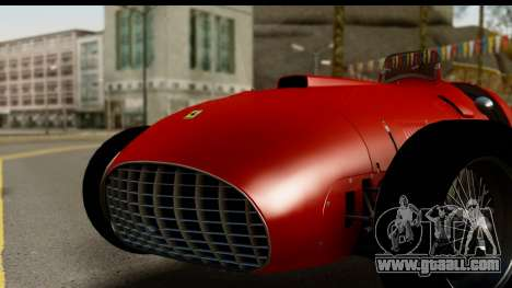 Ferrari 375 F1 for GTA San Andreas back left view