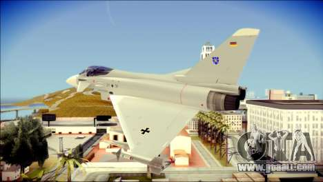 EuroFighter Typhoon 2000 Luftwaffe for GTA San Andreas left view