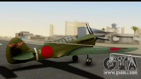 P-40E Kittyhawk IJAAF for GTA San Andreas left view