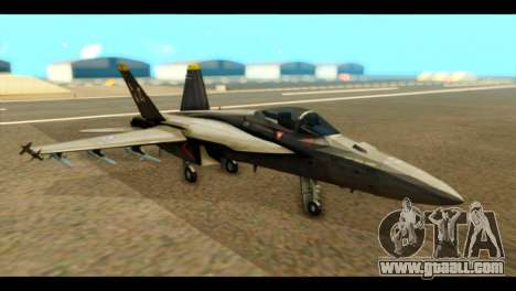 FA-18 Jolly Roger Black for GTA San Andreas
