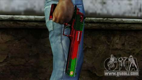 Desert Eagle Portugal for GTA San Andreas third screenshot
