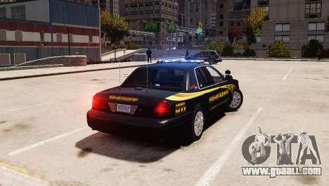 Ford Crown Victoria Sheriff LC [ELS] for GTA 4 left view