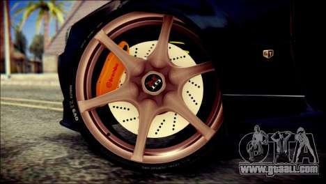 Nissan Skyline GTR V Spec II v2 for GTA San Andreas back left view