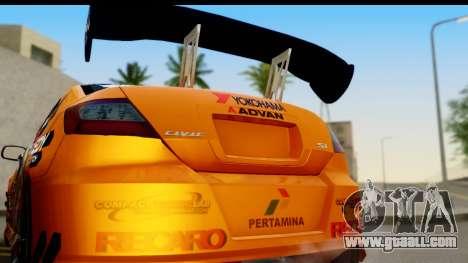 Honda Civic SI Juiced Tuned Shinon Itasha for GTA San Andreas right view