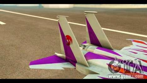 F-15C Air Combat for GTA San Andreas back left view