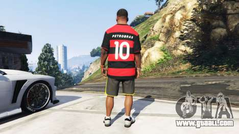 GTA 5 Flamengo T-Shirt - Camisa do Flamengo de 2000-01 third screenshot
