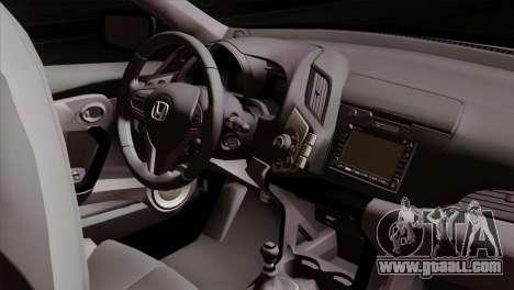 Honda CRZ Mugen Stance Miku Itasha for GTA San Andreas right view